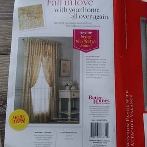 Better Homes And Gardens Accents - Better Homes & Garden embroidered curtain NWT